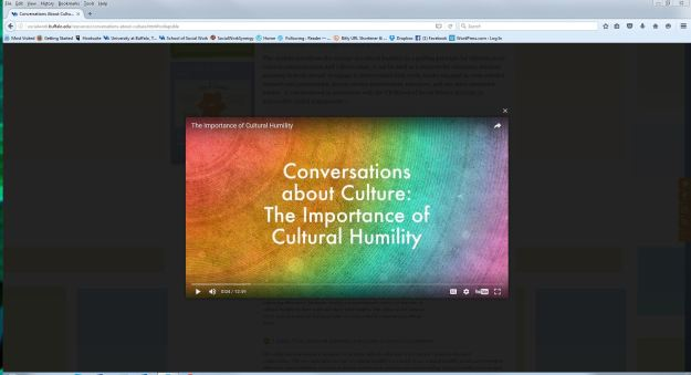 Video for the UBSSW Cultural Humility module