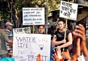 This march celebrated the granting of the right to water for residents of Mumbai., India. Photo: Catherine Wells, MSW '15