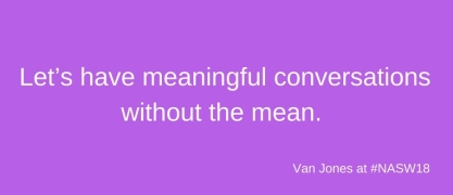 purple background with quote from Van Jones