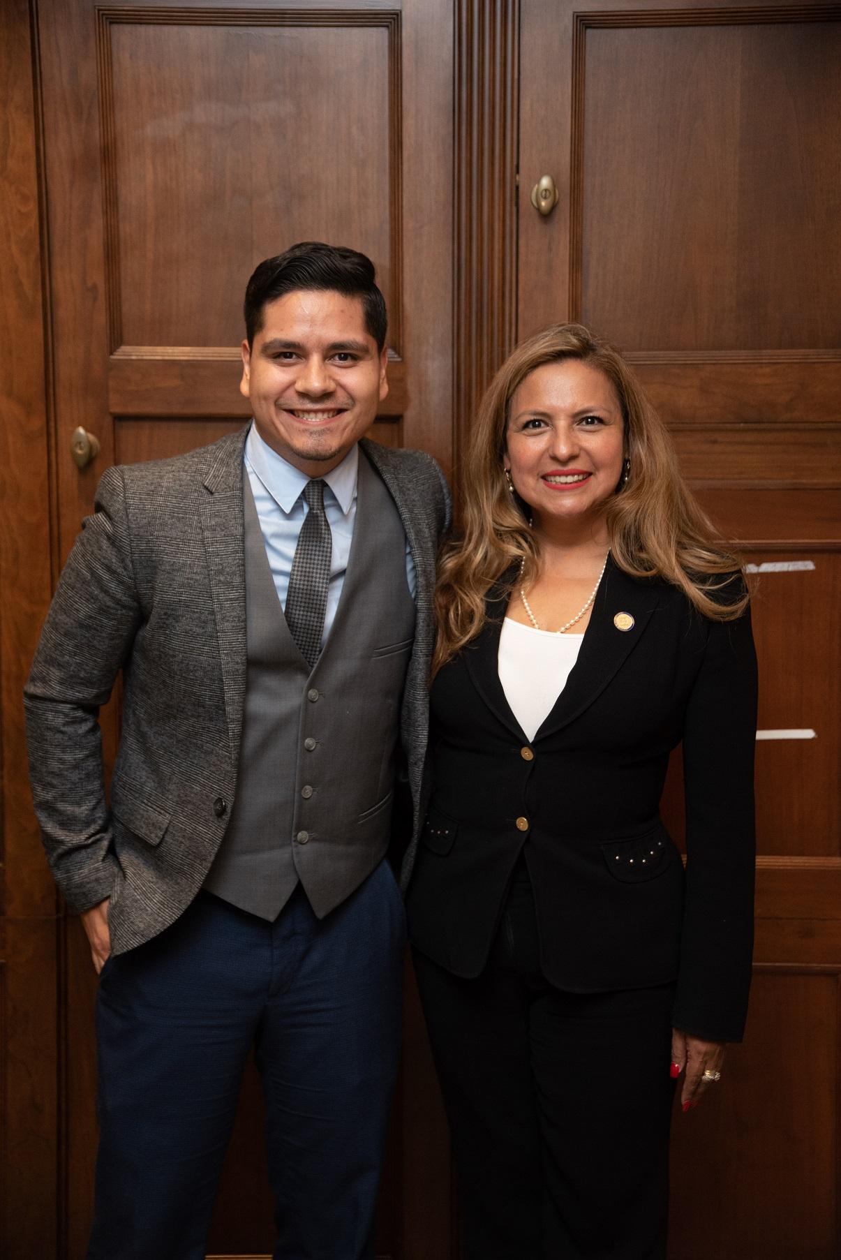 Guzman with Hector Chaidez